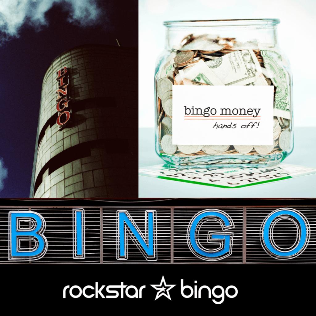 Bingo cash winnings in a jar