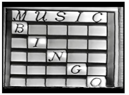 Music Bingo TV Show.