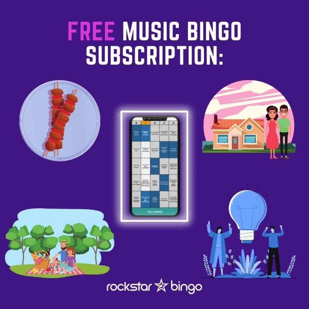 Free Music Bingo Subscription with Rockstar Bingo. Host Music Bingo Free.