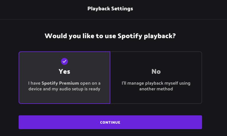How to use Spotify Playback with Music Bingo app, Rockstar Bingo.