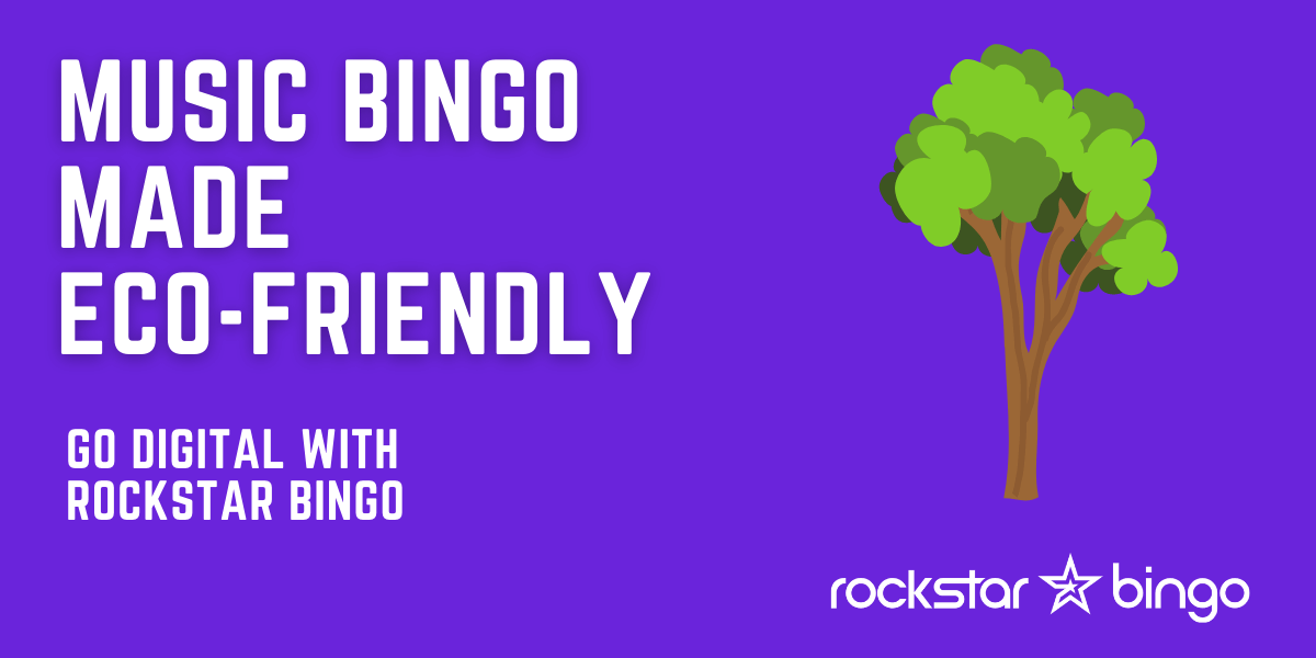 Eco friendly and sustainable music bingo with Rockstar Bingo.