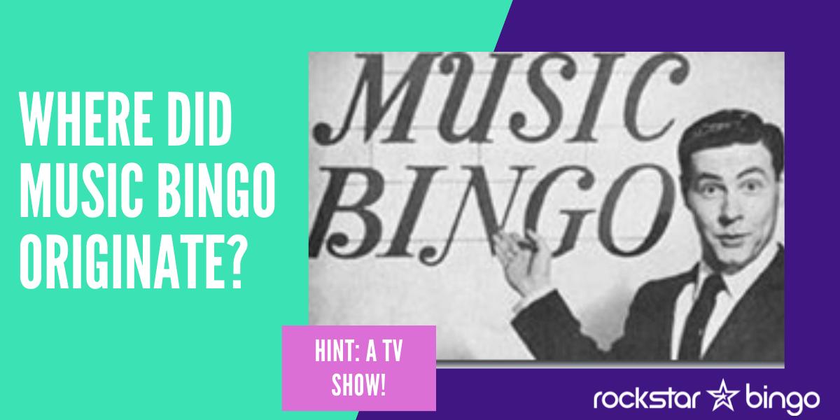 Where did music bingo start and originate. The hit Music Bingo TV Show.