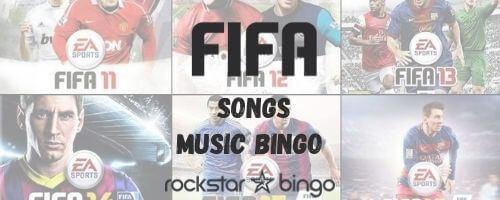 FIFA music bingo playlist perfect for a music trivia event!